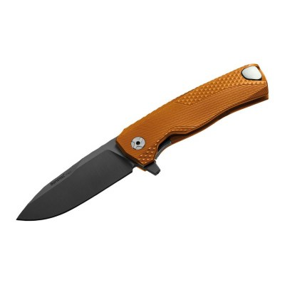 Нож LionSteel ROK Aluminium Orange Black